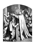 The Coronation of Emperor Charlemagne by Pope Leo III, 1840 Giclee Print