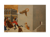 The Blessed Ranieri Frees the Poors from a Florentine Jail Giclée-tryk af Sassetta,