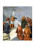Pope Leo XIII Receiving the Last Rites on His Deathbed, 1903 Giclee Print