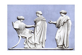Penelope and Maidens, Wedgwood Plaque, 18th Century Giclee Print by John Flaxman