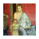 Fresco Detail, Young Girl Reading, 1st Century BC Giclee Print