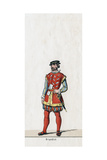 Brandon, Costume Design for Shakespeare's Play, Henry VIII, 19th Century Giclee Print