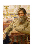Portrait of the Neurophysiologist and Psychiatrist Vladimir Bekhterev (1857-192), 1913 Giclee Print by Ilya Yefimovich Repin