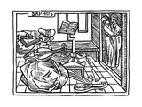 Sappho, Illustration from the Book De Mulieribus Claris, 1473 Giclee Print