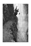 Holmes and Moriarty Fighting over the Reichenbach Falls, 1896 Giclee Print by Sidney Edward Paget