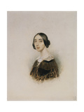 Portrait of the Singer and Composer Michelle Pauline Viardot-García (1821-191), 1843-1845 Giclee Print by Pyotr Fyodorovich Sokolov