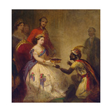 Queen Victoria Giving the Bible to an African Chief, 1861 Giclee Print by Thomas Jones Barker