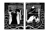 The Four Queens and Lancelot, 1893-1894 Giclee Print by Aubrey Beardsley