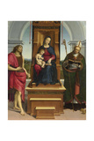 The Madonna and Child with Saint John the Baptist and Saint Nicholas of Bari, 1505 Giclee Print by  Raphael
