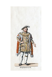 King Henry VIII of England, Costume Design for Shakespeare's Play, Henry VIII, 19th Century Giclee Print