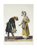 Parting of a Russian Officer with a Parisian Women, 1816 Giclee Print by Philibert-Louis Debucourt