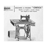 Omnia' Sewing Machines Advertisement, 20th Century Giclee Print