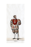 Sergeant, Costume Design for Shakespeare's Play, Henry VIII, 19th Century Giclee Print