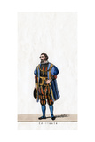 Nobleman, Costume Design for Shakespeare's Play, Henry VIII, 19th Century Giclee Print