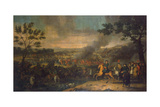 The Battle of Poltava on 27th June 1709, 1717-1718 Giclee Print by Louis Caravaque