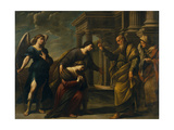 Raguel's Blessing of Her Daughter Sarah before Leaving Ecbatana with Tobias, C. 1640 Giclee Print by Andrea Vaccaro