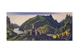 Stage Design for the Ballet the Rite of Spring (Le Sacre Du Printemp) by I. Stravinsky, 1945 Giclee Print by Nicholas Roerich