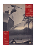 Poster Advertising Hispano-Suiza Cars, 1934 Giclee Print