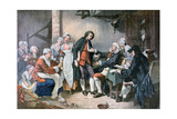 The Village Betrothal, 1892 Giclee Print by Jean-Baptiste Greuze