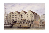 View of Chamberlain's Wharf, Tooley Street, Bermondsey, London, 1846 Giclee Print by Thomas Hosmer Shepherd