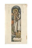 Saint Prokopius of Ustyug (Study for Frescos in the St Vladimir's Cathedral of Kie), 1884-1889 Giclee Print by Viktor Mikhaylovich Vasnetsov