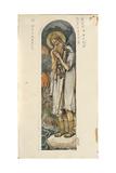 Saint Prokopius of Ustyug (Study for Frescos in the St Vladimir's Cathedral of Kie), 1884-1889 Giclee Print by Viktor Mikhaylovich Vasnetsov