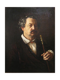 Portrait of the Composer Alexander Aleksandrovich Alyabyev (1787-185), 1840-1850 Giclee Print by Vasili Andreyevich Tropinin