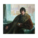 Portrait of the Sculptor and Architect Isidor Zolotarevsky (1885-196), 1922 Giclee Print by Boris Michaylovich Kustodiev