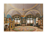 Interiors of the Winter Palace, the Corner Drawing Room of Emperor Nicholas I, Mid of the 19th C Giclee Print by Konstantin Andreyevich Ukhtomsky