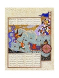Esfandiyar Murders Simurgh (Manuscript Illumination from the Epic Shahname by Ferdows) Giclee Print