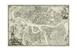 Map of Petersburg (Book to the 50th Anniversary of the Founding of St. Petersbur), 1753 Giclee Print