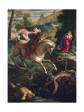Saint George and the Dragon, 1543 Giclee Print by Jacopo Tintoretto