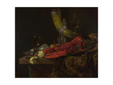 Still Life with the Drinking-Horn of the Saint Sebastian Archers' Guild, Lobster and Glasses Giclee Print by Willem Kalf