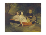 Self-Portrait with Baroness Yekaterina Meller-Zakomelskaya and Her Daughter in a Boat, 1833-1835 Giclee Print by Karl Pavlovich Briullov