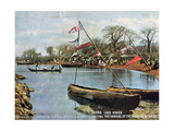 Waiting the Arrival of the Mission Steamer, Likoma, Lake Nyasa, Africa, 1904 Giclee Print
