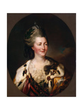 Portrait of Empress Catherine II, (1729-179), 1782 Giclee Print by Richard Brompton