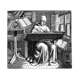 Scribe or Copyist, 15th Century Giclee Print