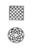 Square and Circular Chessboards, 14th Century Giclee Print