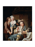 A Husband Deceived (Wine and Lov), 1765 Giclee Print by Georg Melchior Kraus