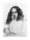 Elizabeth Barrett Browning, British Poet, 1859 Giclee Print by Field Talfourd