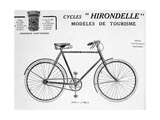 Hirondelle Saint Etienne Bicycle Tourism Advertisement, 20th Century Giclee Print