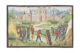 Camp of the Crusaders Near Jerusalem. Miniature from the Historia by William of Tyre, 1460s Giclee Print