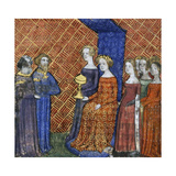 King Solomon Receiving the Queen of Sheba, 1400-1415 Giclee Print