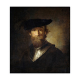 An Old Soldier in a Black Beret, 17th Century Giclee Print by Christopher Paudiss