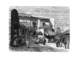 Moorish Coffee House at Sidi Bou Said, Tunis, C1890 Giclée-tryk