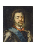 Portrait of Emperor Peter I the Great (1672-172), Early 18th C Giclee Print by Ivan Nikitich Nikitin