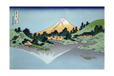 Reflection in the Surface of the Water, Misaka, Kai Province, 1830-1833 Giclée-Druck von Katsushika Hokusai