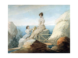 Empress Alexandra Fyodorovna with Daughter Grand Duchess Maria Nikolaievna of Russia, 1820S Giclee Print by Pyotr Fyodorovich Sokolov