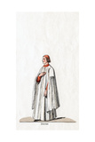 Chorister, Costume Design for Shakespeare's Play, Henry VIII, 19th Century Giclee Print