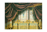 Sketch for the Curtain for the Michael Theatre in Saint Petersburg, 1852 Giclee Print by Andreas Leonhard Roller